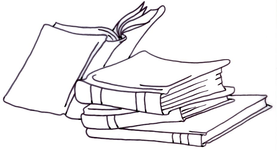 Library Clipart Black and .