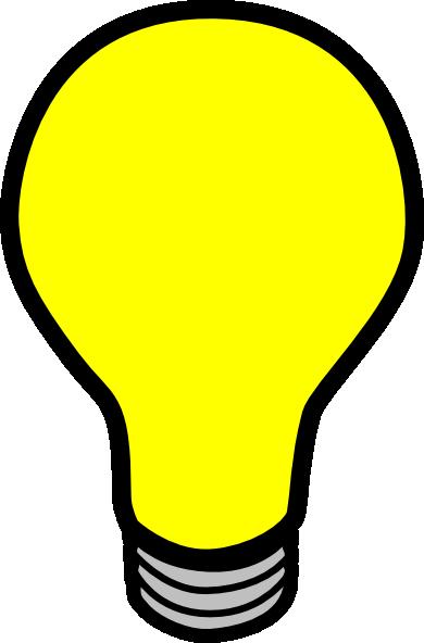 Light bulb animation clipart