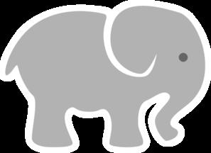 Light Grey Baby Elephant Clip Art At Clker Com Vector Clip Art