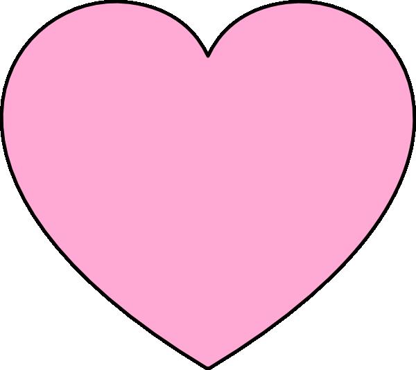 Light Pink Heart Clip Art At Clker Com Vector Clip Art Online