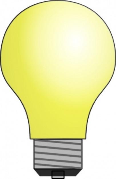 Lightbulb clip art Vector .