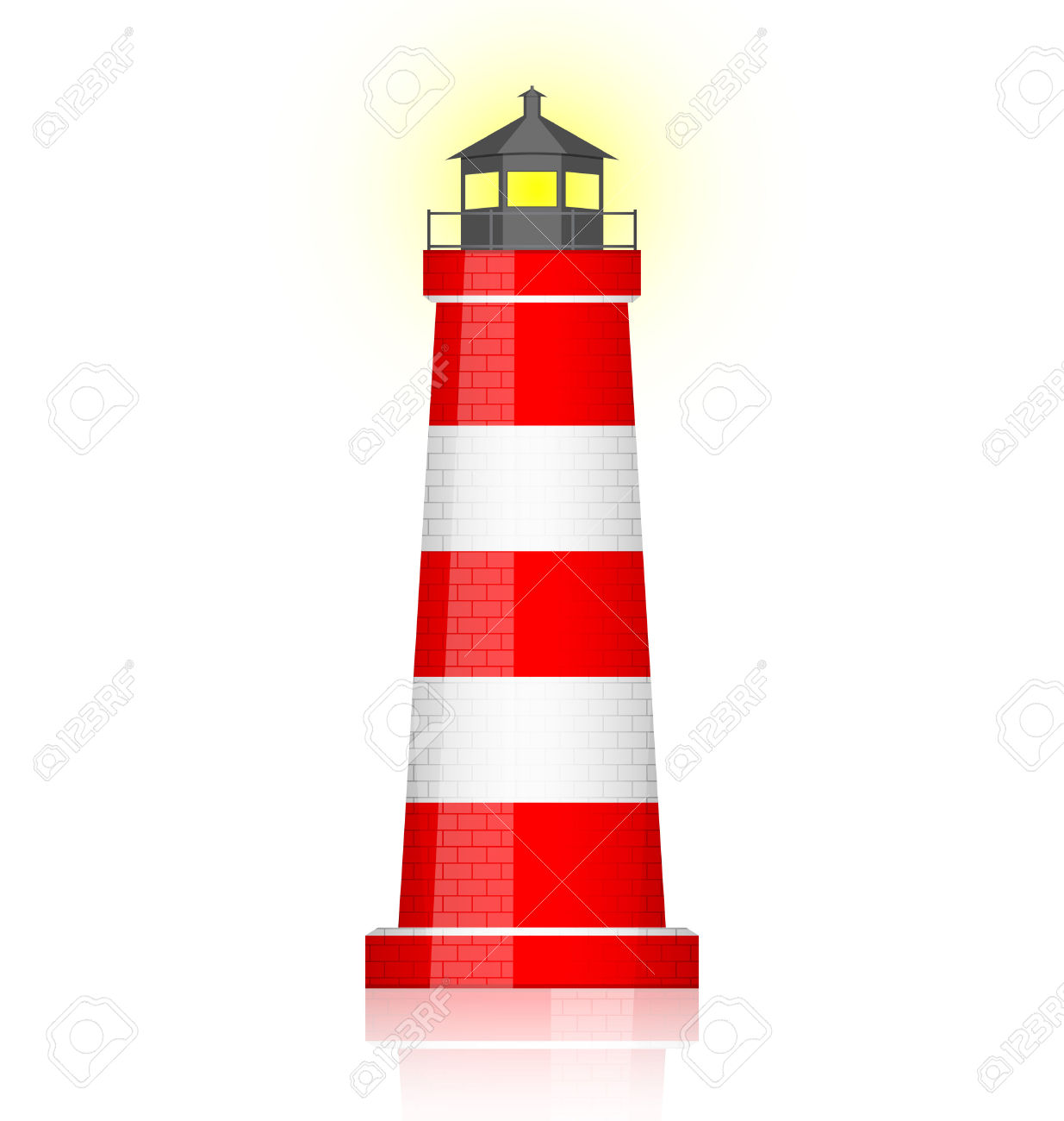 lighthouse beam: Vector .