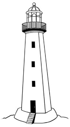 Lighthouse clip art clipartcow