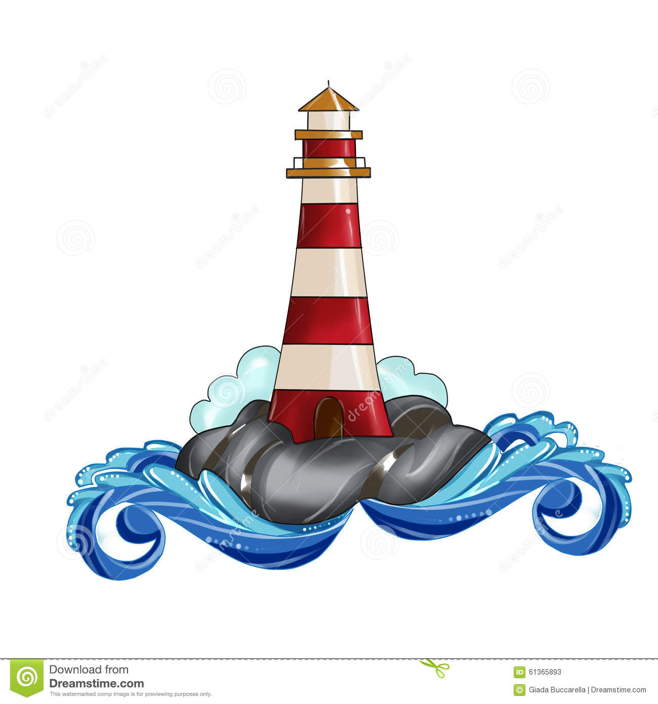 Lighthouse Clip art Illustration Watercolor