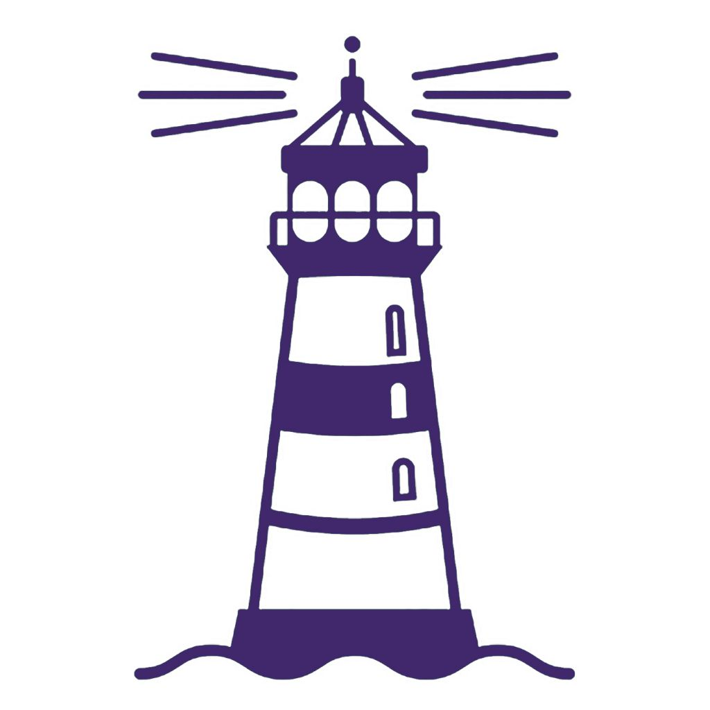 Lighthouse clipart purple #12