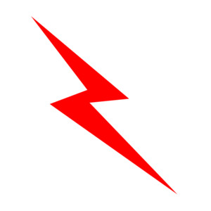Lightning bolt free cloud .