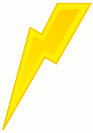 Lightning bolt green lighting bolt clip art at vector clip art 3 2 - Clipartix
