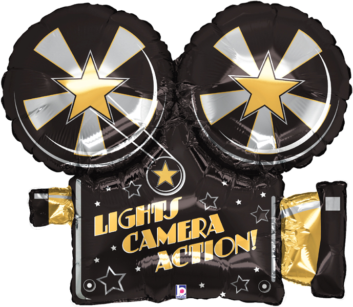 Lights camera action clipart