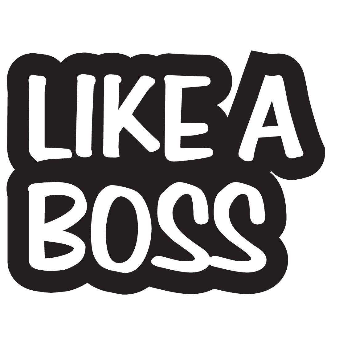 Like A Boss PNG Image