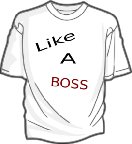 National Shirt Like A Boss T-shirt Clip Art