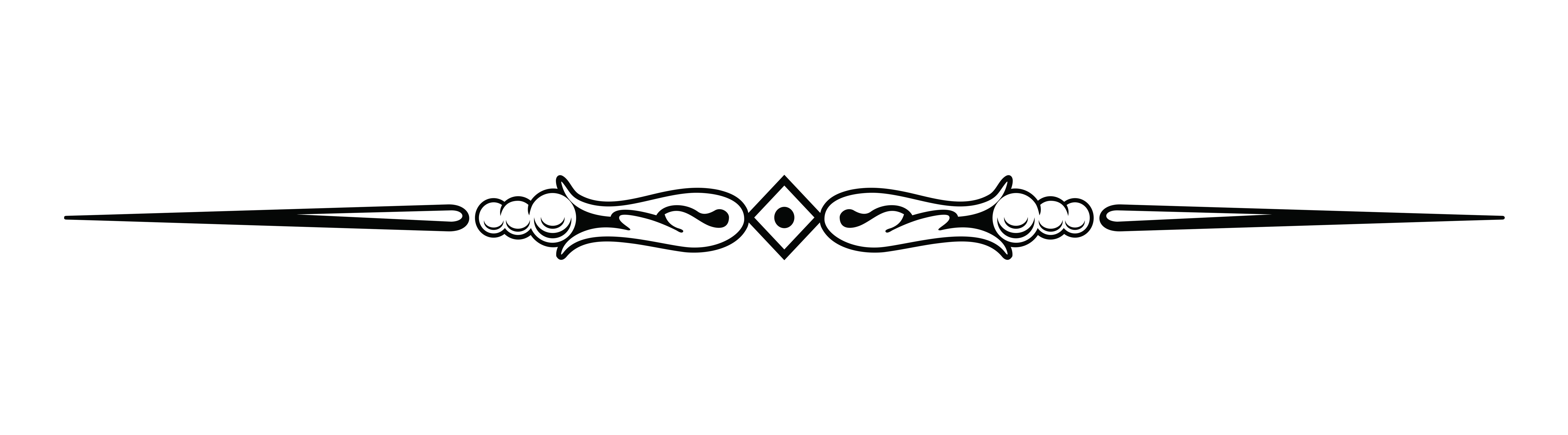 Black Line Divider Clipart #1
