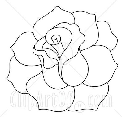 Line Drawing Of Rose - ClipArt ... 1000  images about 0 Rose on .