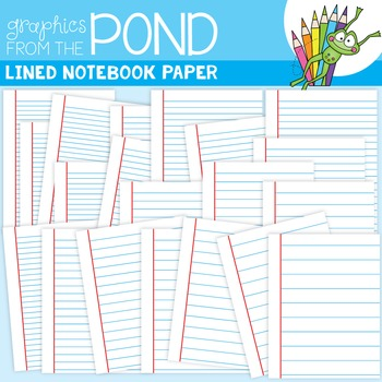 Lined Notebook Paper Clipart Lined Notebook Paper Clipart