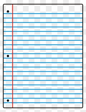 Lined Paper Lined Paper Notebook Paper Clipart - Sheet Of Notebook Paper