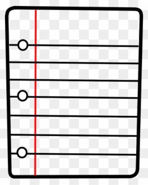 Paper Clipart Document - Lined Paper Clip Art