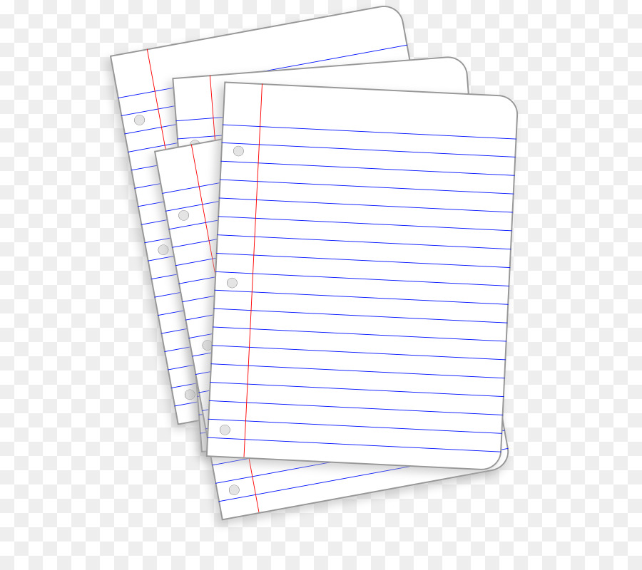 Ruled paper Notebook Clip art - Lined Paper Clipart