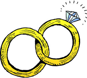 linked wedding rings clipart