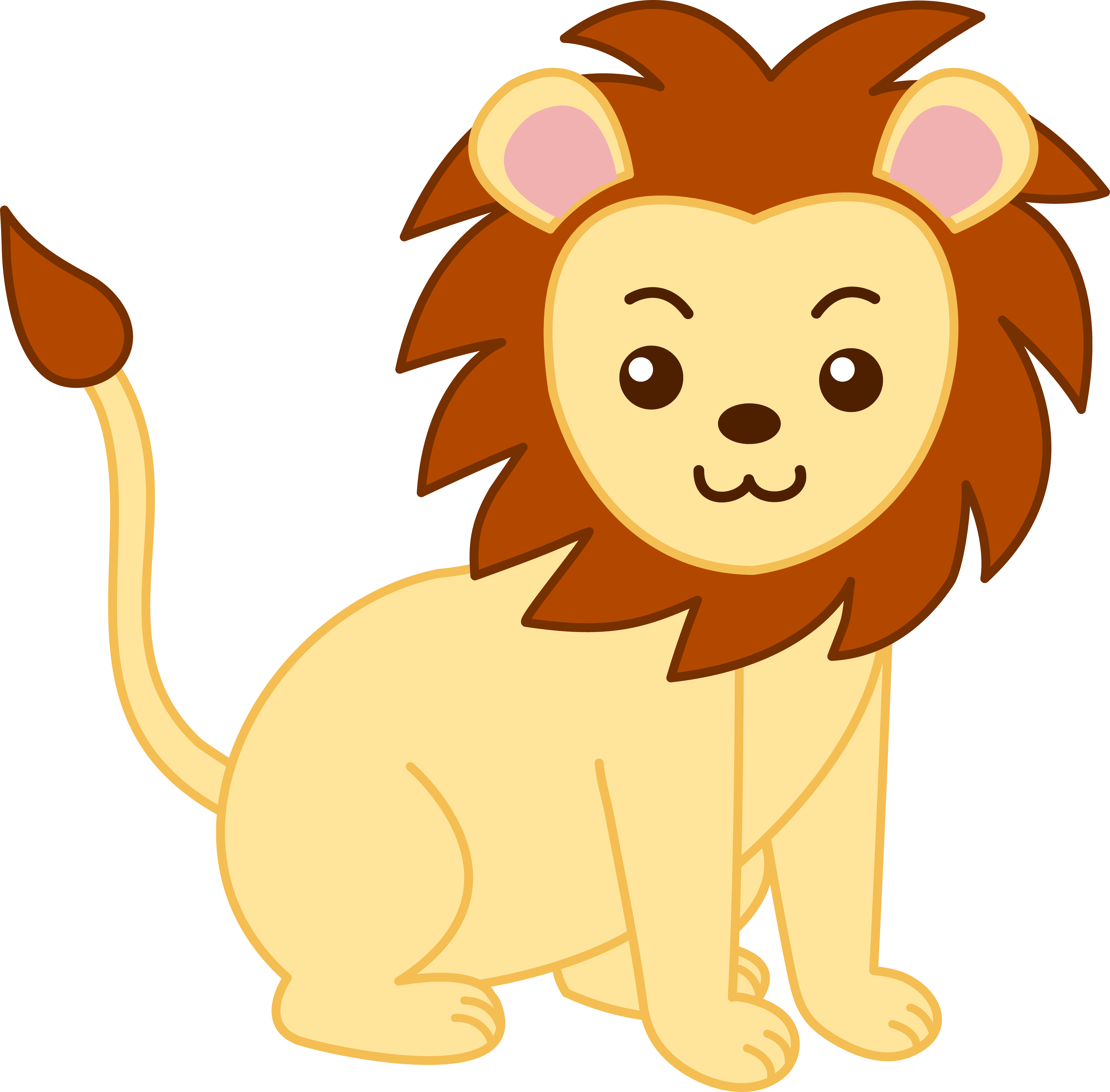 Baby Lion Clipart