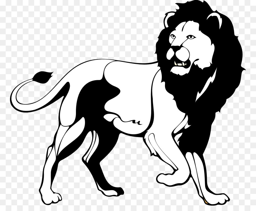 Lion Black and white Roar Clip art - Black Lion Cliparts 830*721 transprent  Png Free Lion Clipart Black And White - Art, Monochrome Photography, Carnivoran.