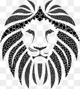 printing lions head, Head Clipart, Black And White, Lion PNG Image and  Clipart