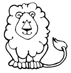 roaring lion line drawing - G - Lion Clipart Black And White