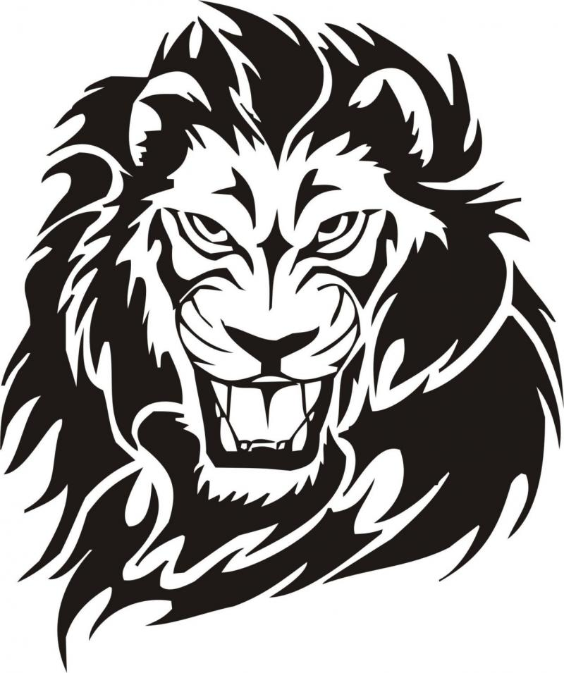 Lion Face Drawings Clipart .