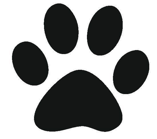 Lion Paw Print Stencil .