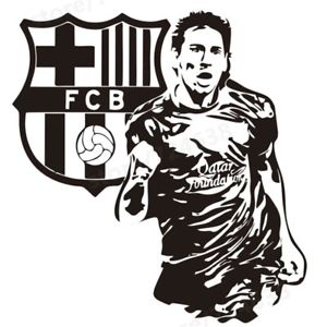 Image is loading Sport-Footballer-Wall-Sticker-Lionel-Messi-Kids-Room-
