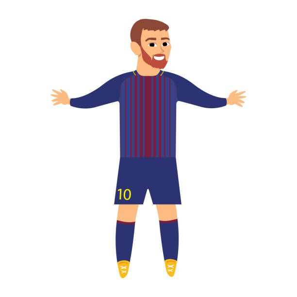Leo Messi - best football player vector art illustration