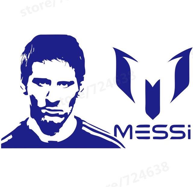 Ücretsiz kargo Spor futbolcusu duvar çıkartmaları çocuk boys puanlama sonra  yılın Lionel Messi tezahürat of odası