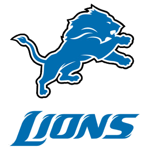 Lions Logo Text Banner · Detroit Lions official NFL Football team clipart:  a free banner for the Detroit Lions football