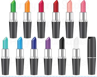 Lipstick clipart, commercial use, makeup clipart, cosmetics clipart, lip stick graphics