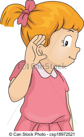 Listening Ears Kids Clipart .