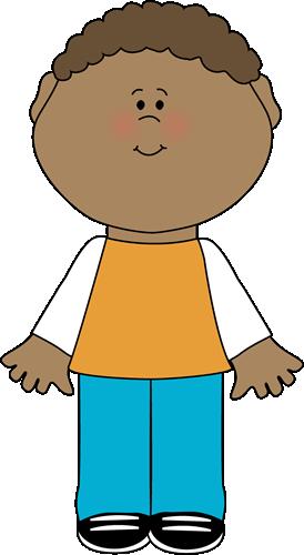 Little Boy Clip Art Image Little Boy In Tshirt And Denim Pants