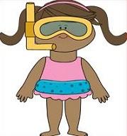 Little girl in Bathing Suit