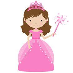 Little girl princess clipart