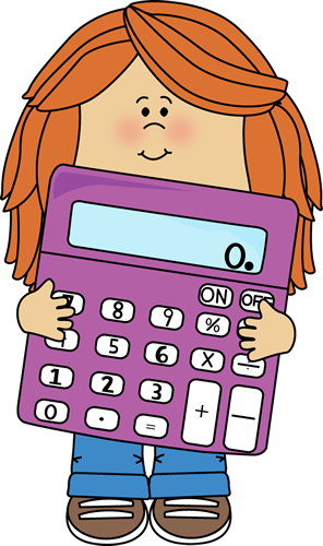 Little Girl with Big Purple C - Math Clipart