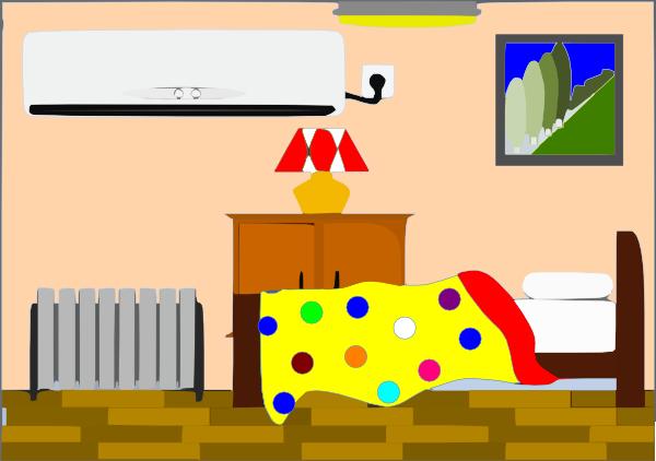 Little Girls Bedroom With Dots Clip Art At Clker Com Vector Clip Art