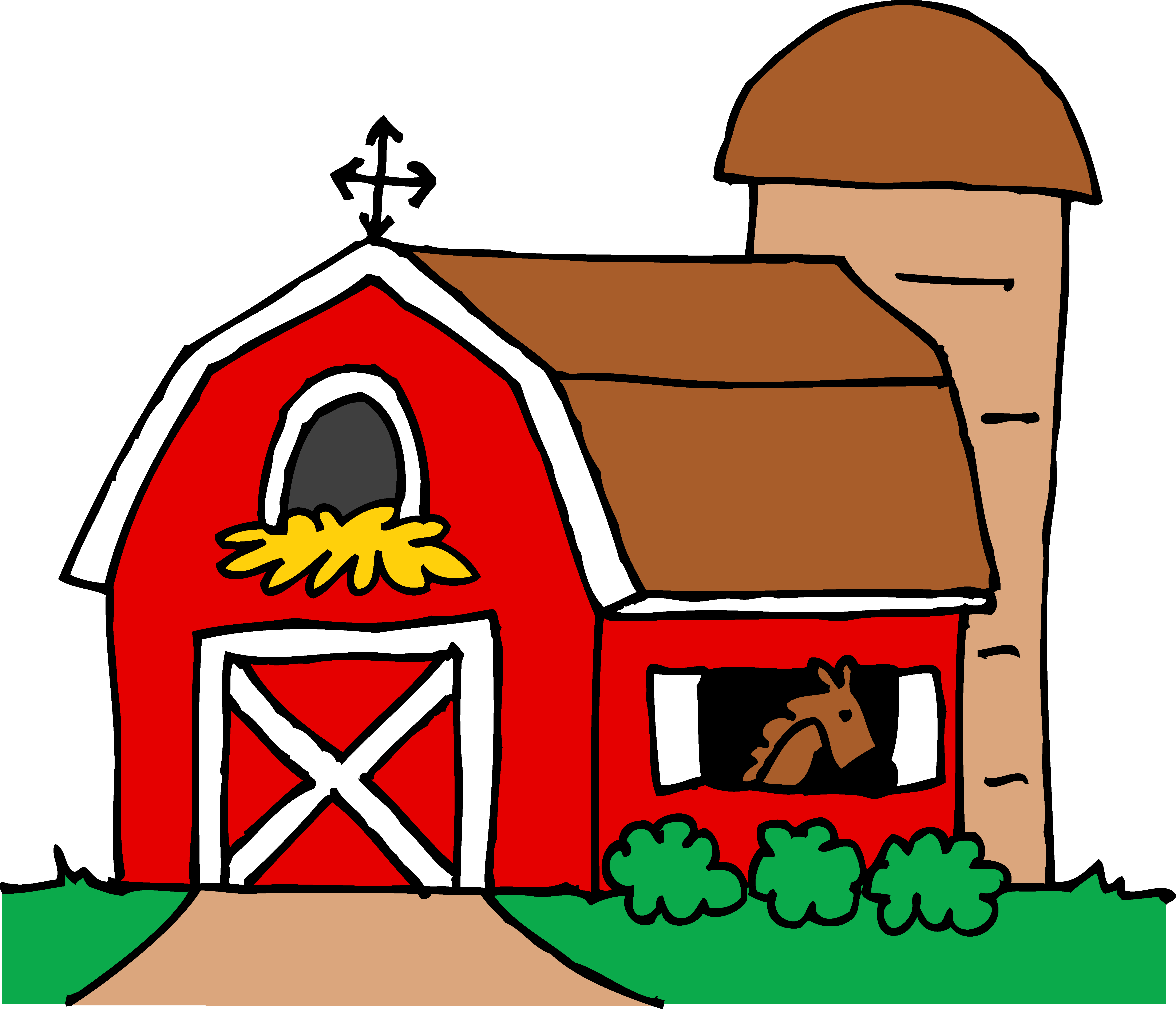 Little red barn clipart free .