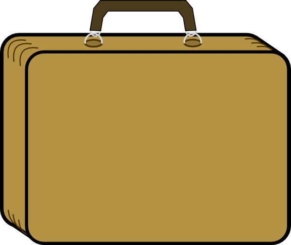 Little Tan Suitcase Clip Art At Clker Com Vector Clip Art Online