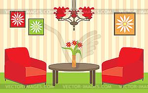 Living Room Vector Clip Art