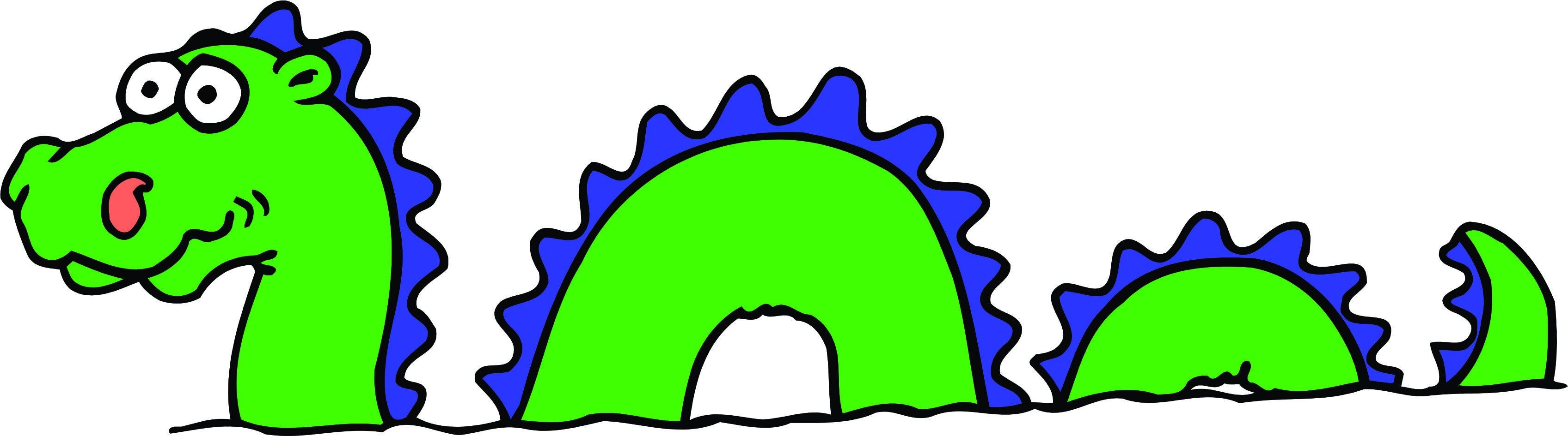 Loch Ness Monster Cartoon .