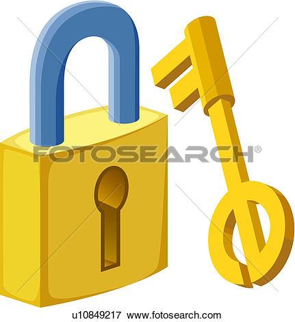 Lock and key. ValueClips Clip Art