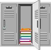 locker room; school locker ...