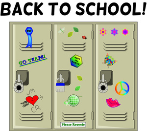 Lockers Clipart Image: Student .