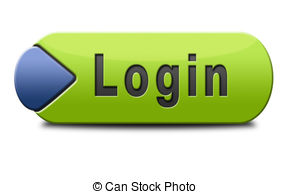 login button or user or member log in website banner