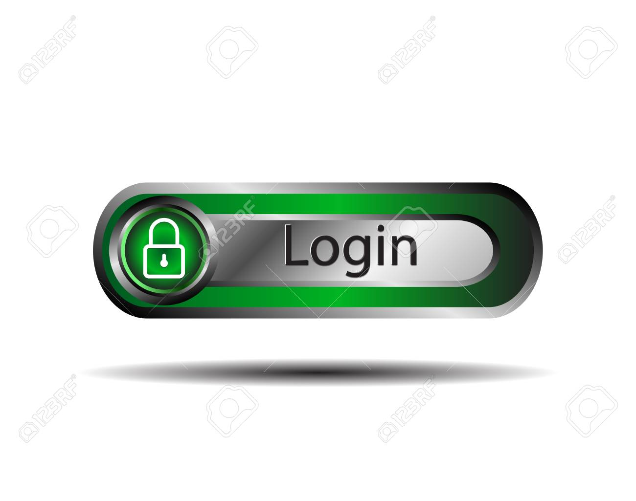 Login button Stock Vector - 31611187