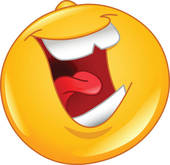 Laughing out loud emoticon - LOL Clipart