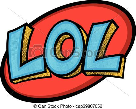 LOL cartoon lettering - csp39 - LOL Clipart