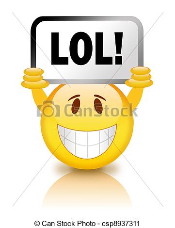 Lol Smiley Stock Illustration